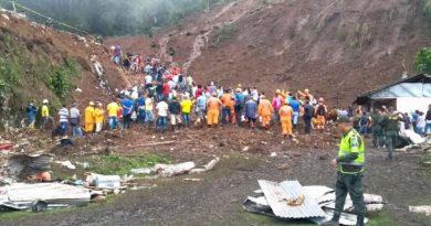 Alud en Colombia deja al menos 14 muertos, cinco heridos y más de 30 desaparecidos