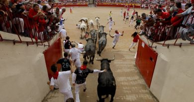 Tres corneados en el último encierro del año en Pamplona